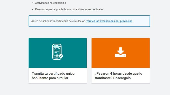 Paso a paso - Certificado Único de Circulación - coronavirus COVID 19