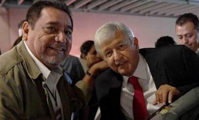 Félix Salgado Macedonio and President Andrés Manuel López Obrador (Facebook)