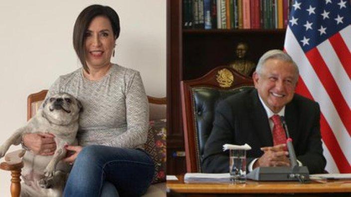 Rosario Robles criticó a López Obrador por amenazar con la extinción del INE (Foto: Twitter / @Rosario_Robles_ / @lopezobrador_)