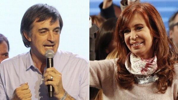 Esteban Bullrich y Cristina Kirchner, candidatos del oficialismo y la oposición en la provincia de Buenos Aires