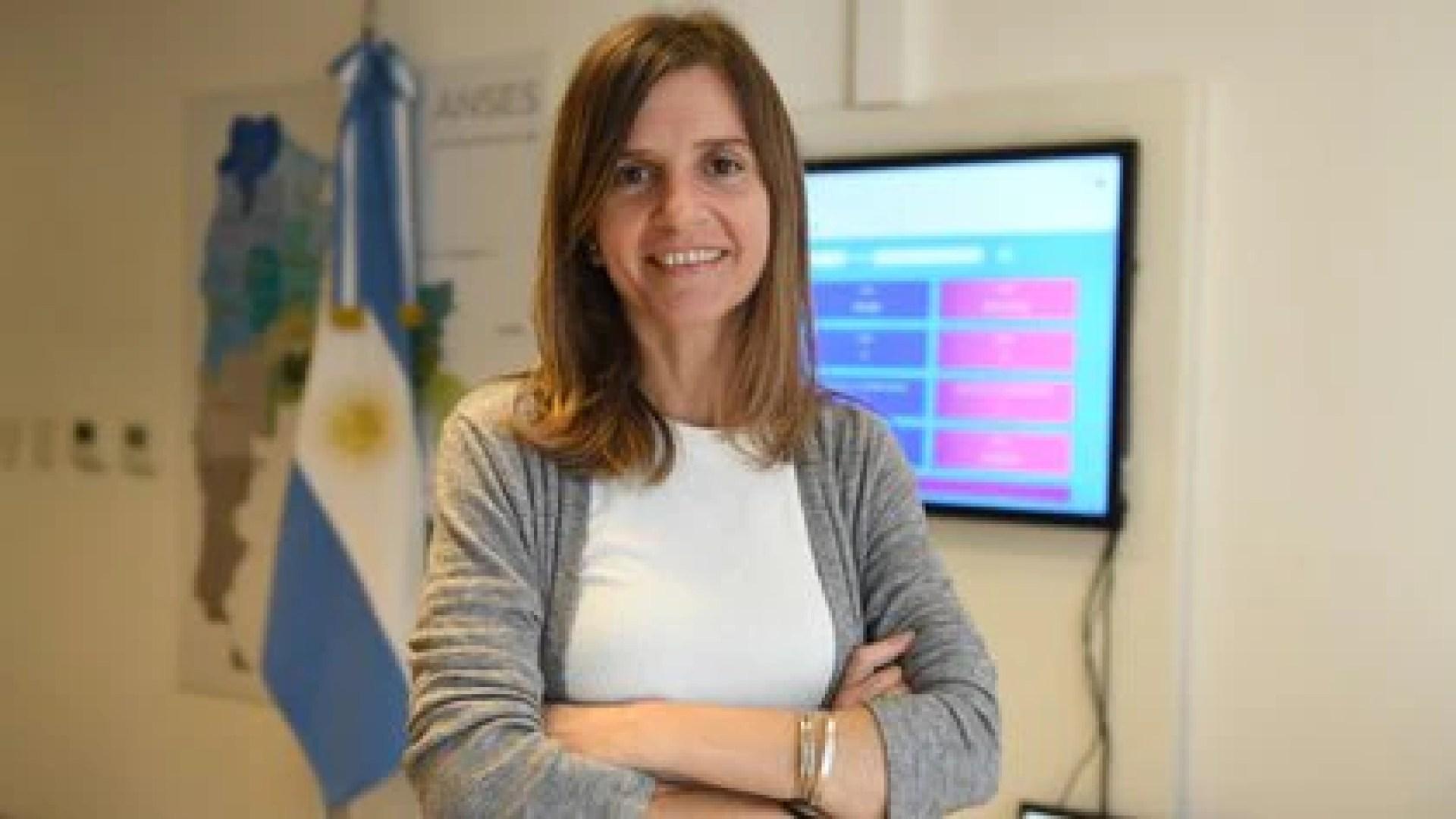 La titular de ANSES, Fernanda Raverta (Maximiliano Luna)