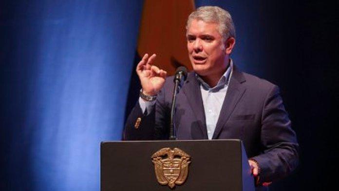 Iván Duque denunció que Nicolás Maduro busca adquirir misiles iraníes  (EFE/Juan Augusto Cardona)