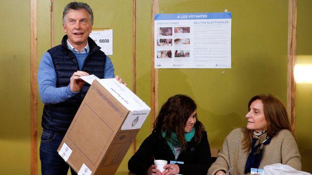 Mauricio Macri vota en las PASO