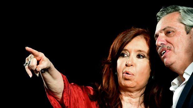 Cristina Kirchner y Alberto Fernández, vicepresidente y presidente electos (Photo by RONALDO SCHEMIDT / AFP)