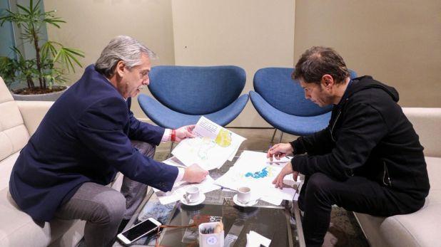 Fernández y Kicillof analizaron la situación económica y el mapa electoral bonaerense (@alferdez)