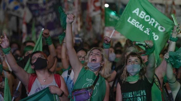 El debate por la legalización del aborto en fotos