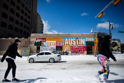 Gente ejercitándose en Austin (Montinique Monroe / GETTY IMAGES NORTH AMERICA / AFP)