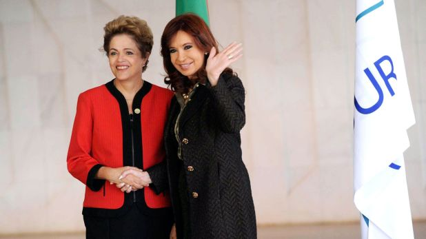 Cristina Kirchner y Dilma Rousseff (NA)