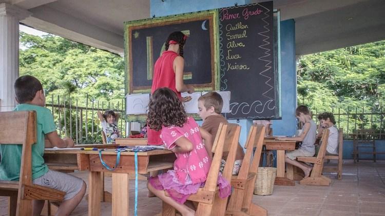 Un aula de Papalotes Puerto Escondido