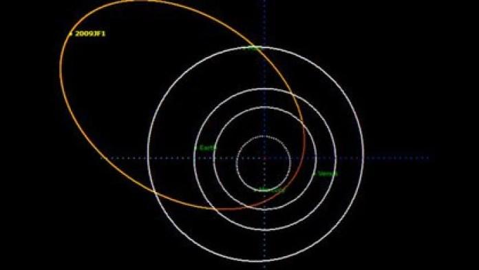 El asteroide 2009 JF1 podría impactar contra la Tierra el próximo 6 de mayo del año 2022 a las 08:34 horas