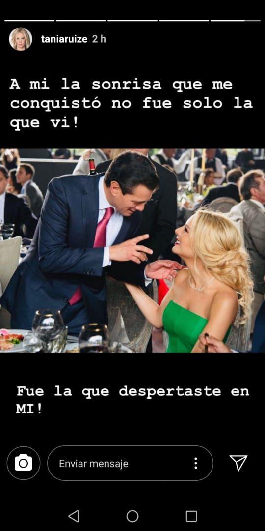 Éste es el primer mensaje que difunde Tania sobre su relación con Peña Nieto, quien hasta el momento no ha expresado nada de manera pública. (Foto: Instagram)