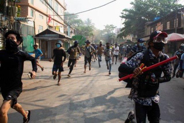 El sábado fue el día más sangriento de represión tras el golpe de Estado en Myanmar (REUTERS/Stringer)