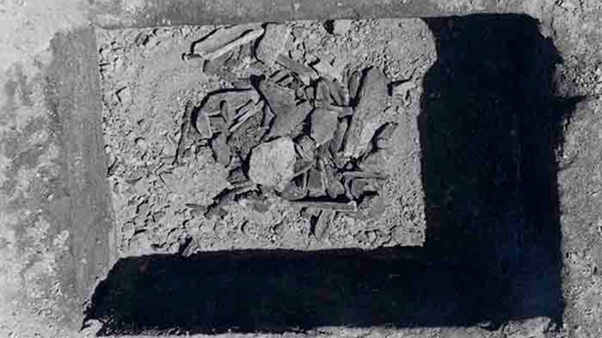 Estos eran los supuestos restos de Juan Santamaría. (IHNCA)