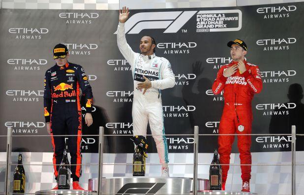 Leclerc y Verstappen completaron el podio - REUTERS