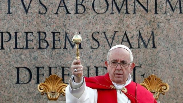 El Papa en la celebración del domingo de Ramos (REUTERS/Remo Casilli)