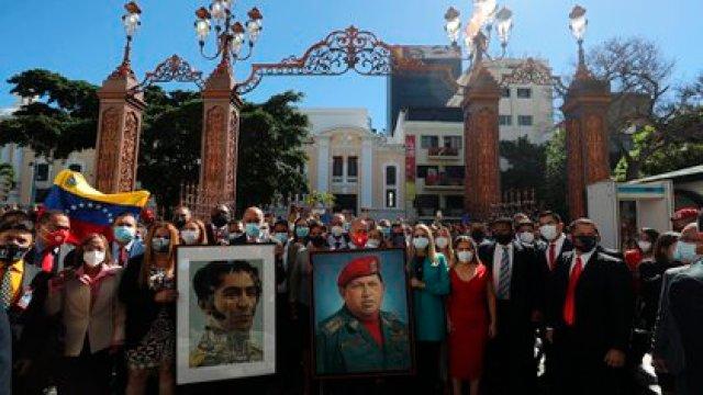 Diputados chavistas en la ceremonia realizada el martes pasado (EFE/ MIGUEL GUTIÉRREZ)