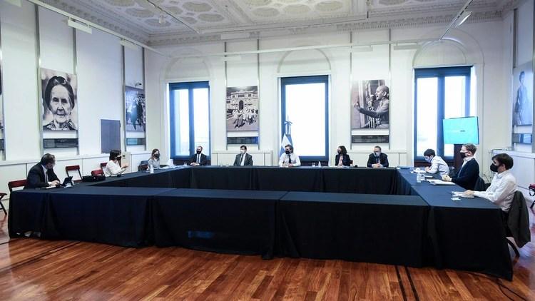 Reunión de Gabinete económico de la semana pasada, en Casa Rosada.