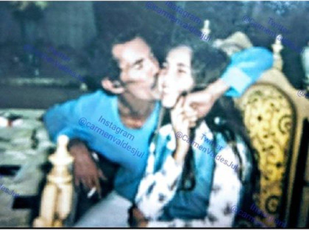 La imagencon la que Carmen Valdés recordó a su fallecido padre (Foto: Instagram)