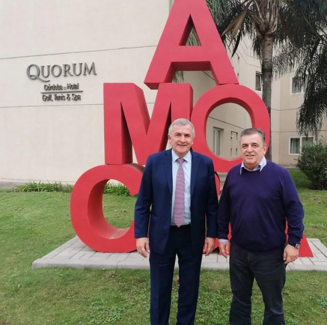 Gerardo Morales junto a Mario Negri en Córdoba
