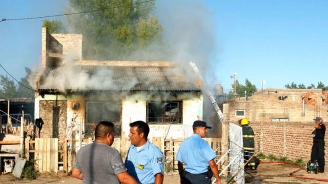 Una de las testigos del crimen murió a las pocas horas en un incendio (Gentileza Zapala 8340)