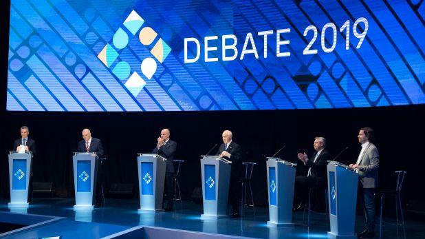 Los candidatos a presidente fueron invitados a adherir al documento contra la corrupción (Adrián Escandar)