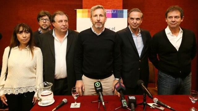 Pichetto y Frigerio estuvieron la semana pasada en Santa Cruz con Costa y el resto de los candidatos