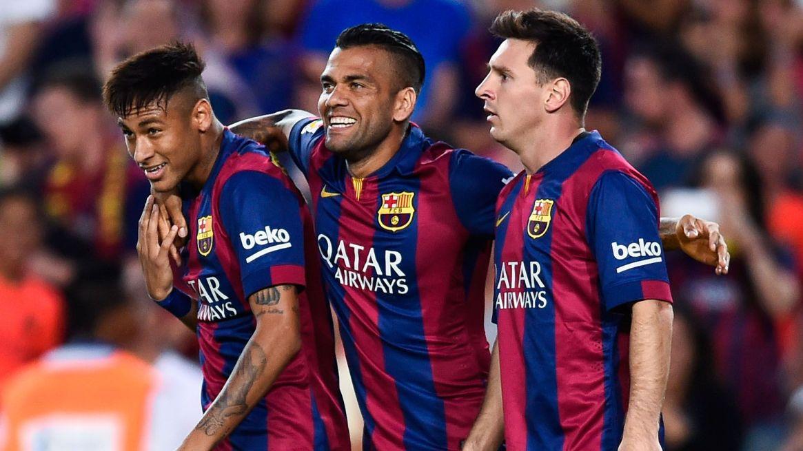 Dani Alves se despidió del Barcelona en 2016