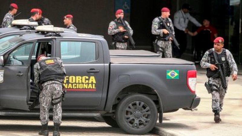 Tropas de la Fuerza Nacional llegan a la ciudad de Fortaleza, en el estado Ceará (Brasil) EFE/ Jarbas Oliveira