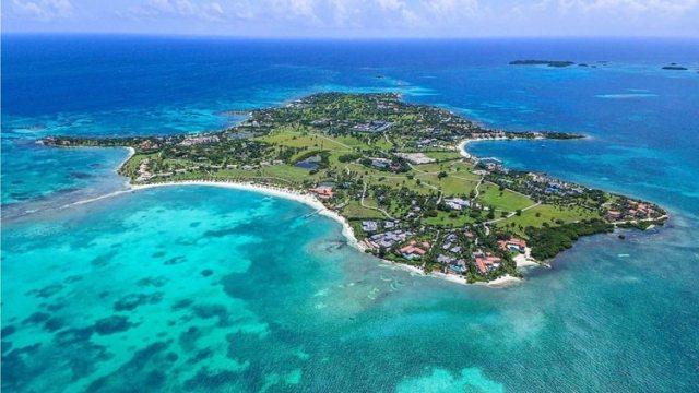 La vista panorámica de la isla (@JumbyBayResort)