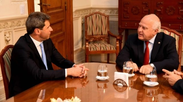 El gobernador de San Juan, Sergio Uñac, y el de Santa Fe, Miguel Lifschitz