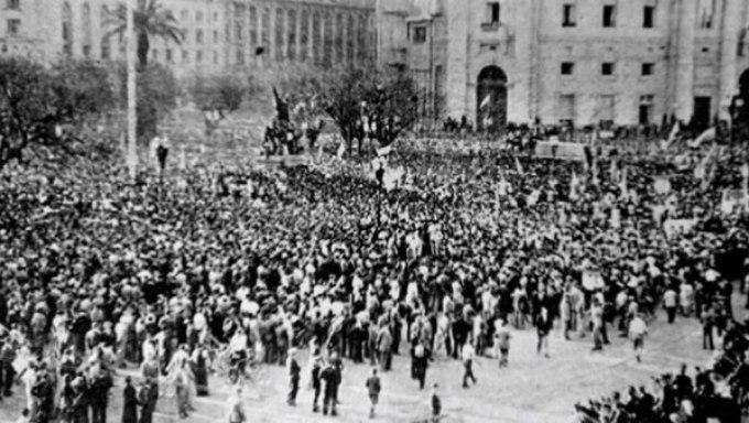 Las calles el 17 de octubre de 1945