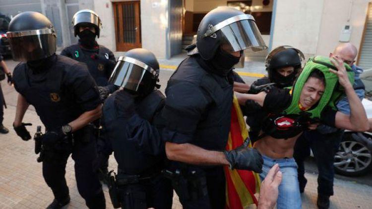 Imagen de una de las protestas en Cataluña (Reuters)
