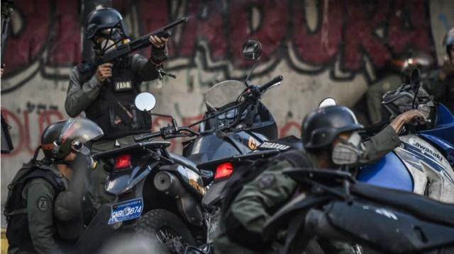 La Guardia Nacional también opera como grupo de choque (AFP)