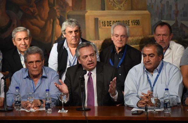 Alberto Fernández en la CGT