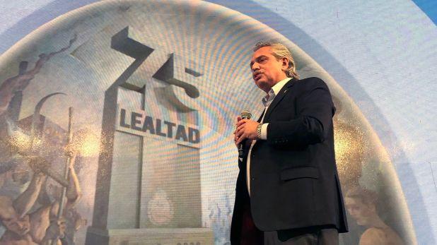 Alberto Fernández 17 Octubre lealtad