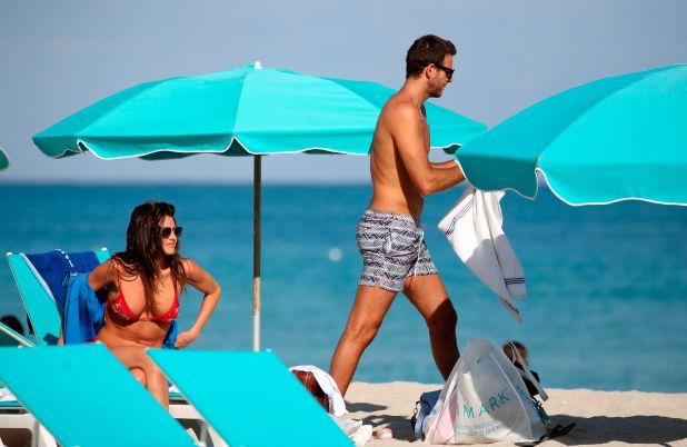 Juan Martín del Potro y Jujuy Jiménez, de vacaciones en Miami (Foto: Grosby)