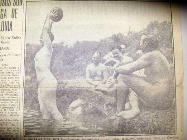 Los nudistas instalaron la primera colonia en Ituzaingó (Diario Crítica)
