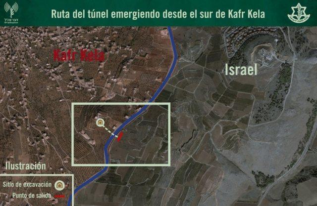 El mapa de uno de los túneles