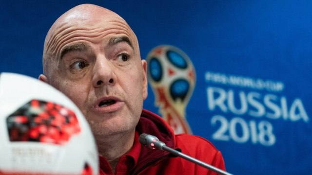 Gianni Infantino adelantó que optaría por una nueva presidencia en el Mundial de Rusia 2018 (AFP)