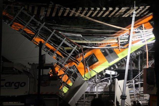 Estación Olivo de la línea 12 del Sistema de Transporte Colectivo Metro tras presentar un colapso. Ciudad de México, mayo 4, 2021. Foto: Karina Hernández/Infobae