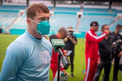 """El boxeador mexicano Saúl """"Canelo"""" Álvarez está preparado para su próximo encuentro frente a Saunders (Foto: Giorgio Viera/EFE/Archivo)"""