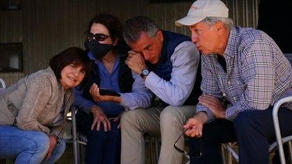 La ex ministra de Seguridad, Patricia Bullrich, y los hermanos Etchevehere al momento de escuchar el fallo judicial (Franco Fafasuli)