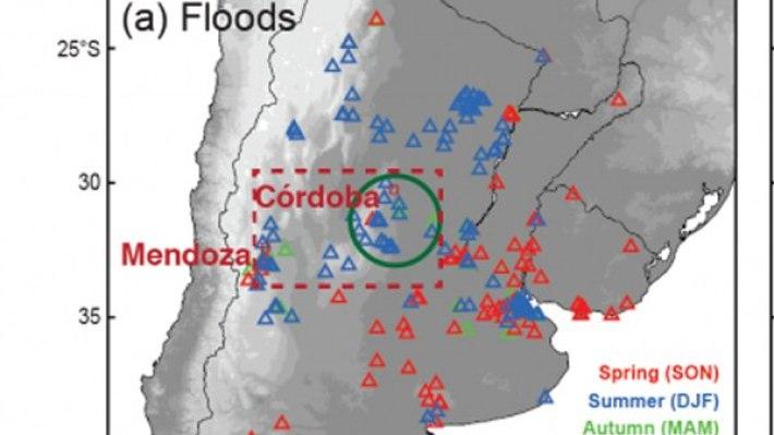Precipitaciones en lo que va del año sobre las sierras cordobesas