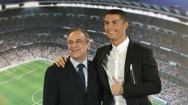 Florentino Pérez estaría dispuesto a ceder a Cristiano Ronaldo, máximo goleador de la historia del club (AFP)