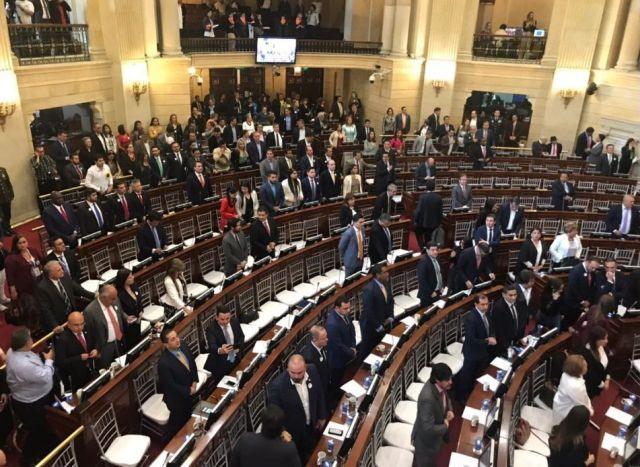 10-04-2019 Congreso de Colombia durante homenaje en el Día Nacional de la Memoria y la Solidaridad con las Víctimas. SUDAMÉRICA COLOMBIA POLÍTICA TWITTER