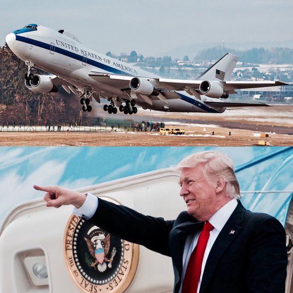 """Existen cuatro E-4B en servicio, parte de una flota diseñada sobre la base del Boeing 747 con la finalidad de ser la """"sombra"""" del presidente de los EEUU donde quiera que vaya"""