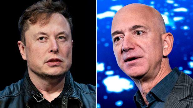 Elon Musk y Jeff Bezos partida