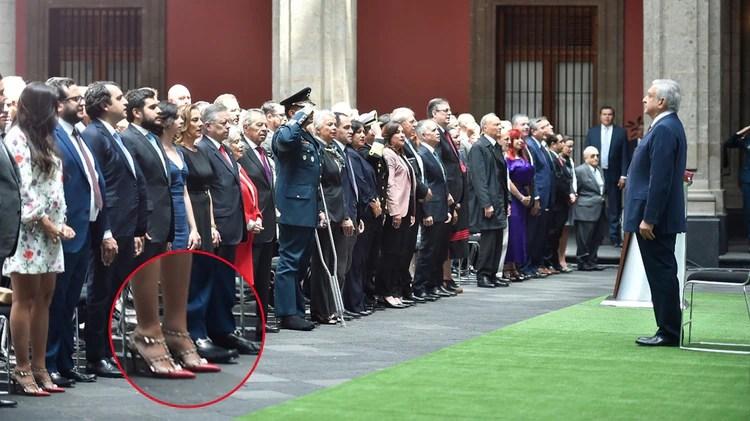 Los zapatos son del diseñador italiano Valentino (Foto: Presidencia)
