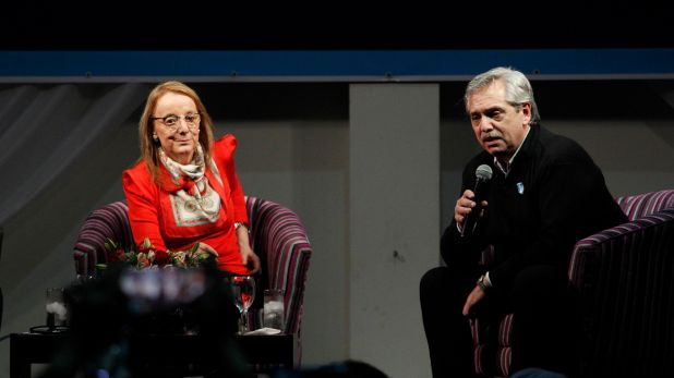 Alicia Kirchner y Alberto Fernández (Foto: Archivo)