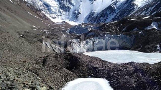 El lugar donde encontraron los cuerpos congelados de los montañistas, a casi 6.000 metros sobre el nivel del mar